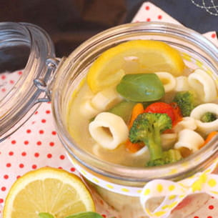 pot au feu de calamars et petits légumes