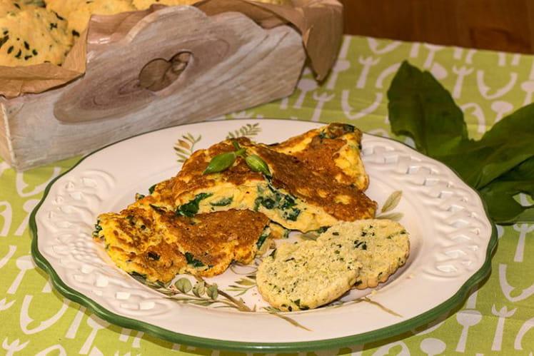 Omelette à l'ail des ours et à la Tomme de Savoie