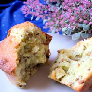 muffins pistache-choco blanc