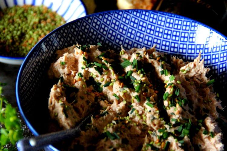 Tartinade de thon et Petit Billy, sésame au wasabi et Balsoy