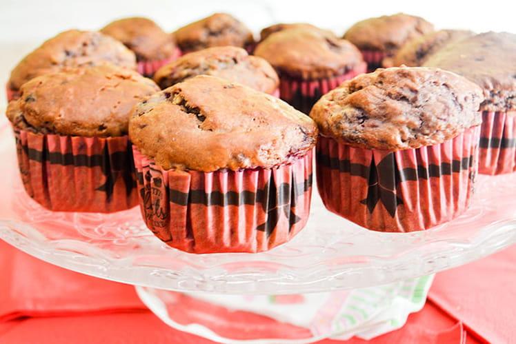 Muffins légers aux framboises