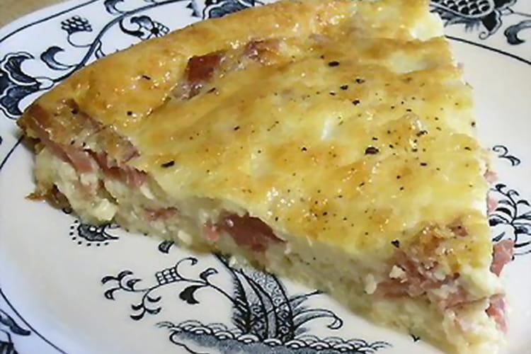 Tarte au jambon et au fromage