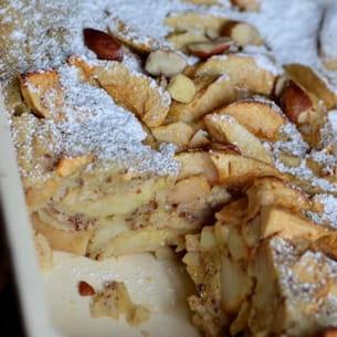 clafoutis pommes et noisettes