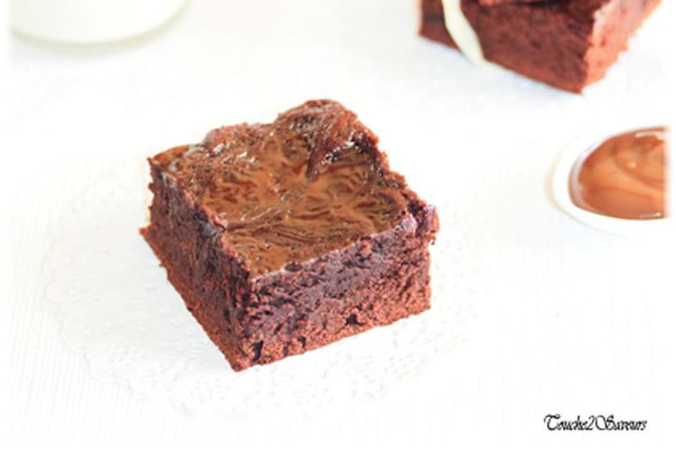 Brownies à la confiture de lait moka