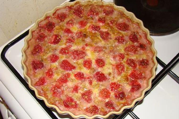 Gratin de fraises express aux amandes