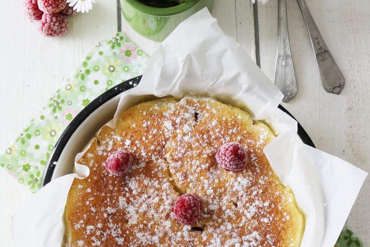 Gâteau nuage de framboises au lait ribot
