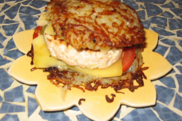 Hamburger maison sans pain