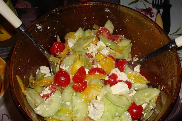 Salade grecque à ma sauce !
