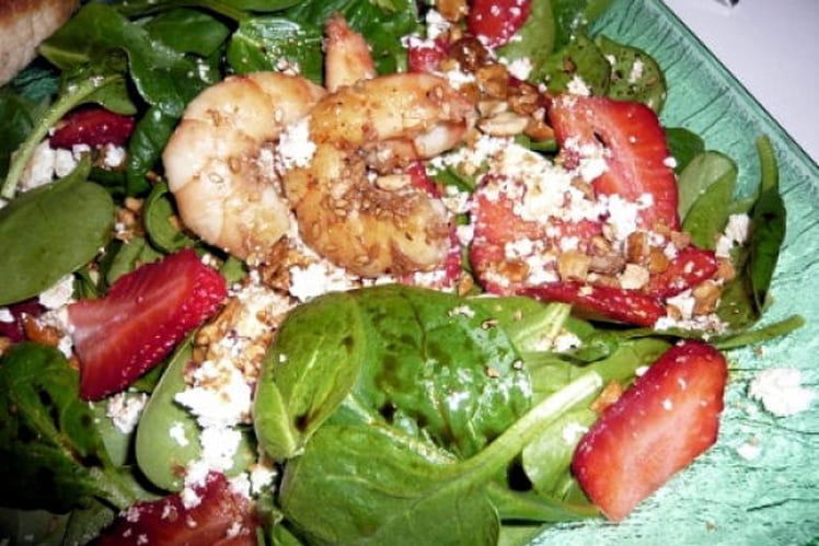 Salade épinards fraises