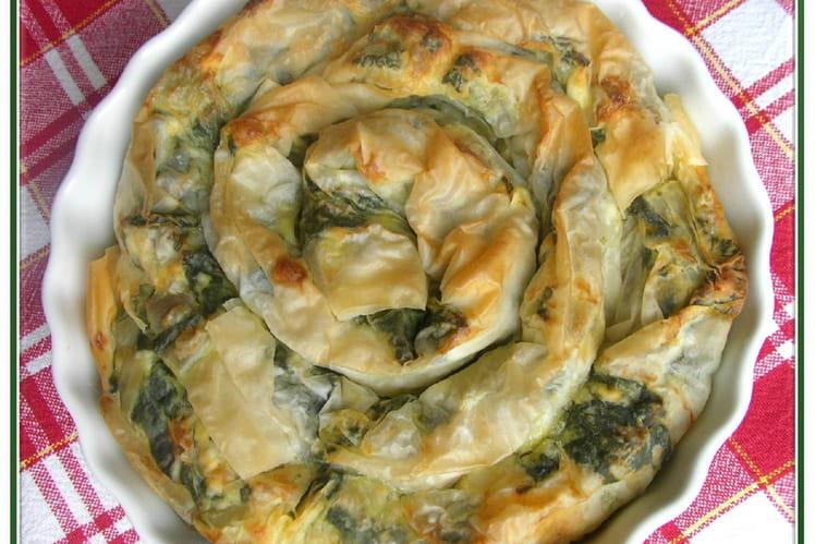 Recette De Banitza Verte Aux épinards Frais Et Feta La Recette - Cuisiner des epinards frais