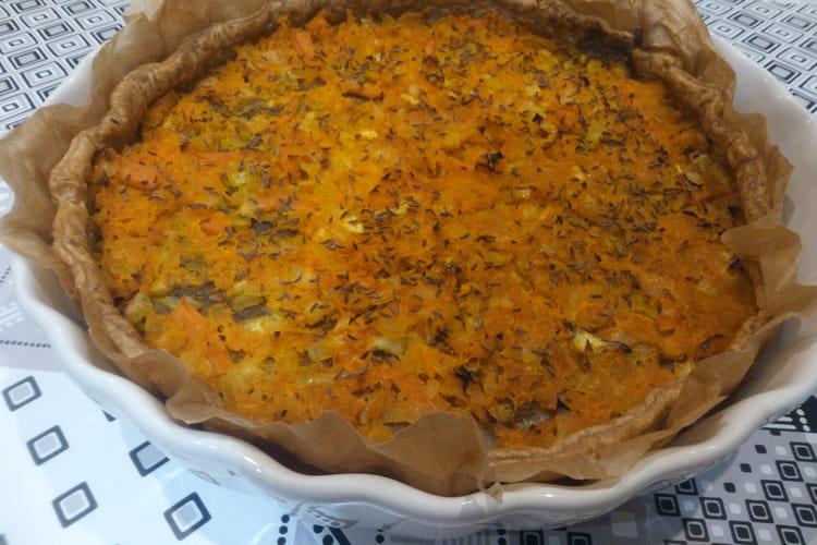 Tarte d'hiver aux carottes