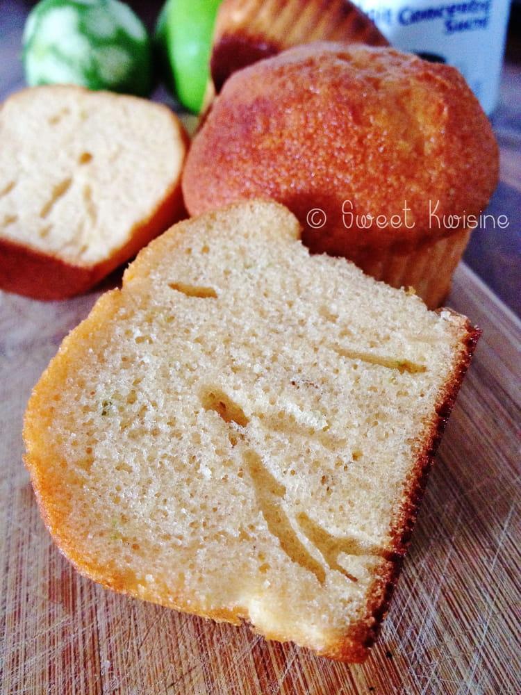 Recette de Muffins au lait concentré sucré et au citron vert : la recette facile