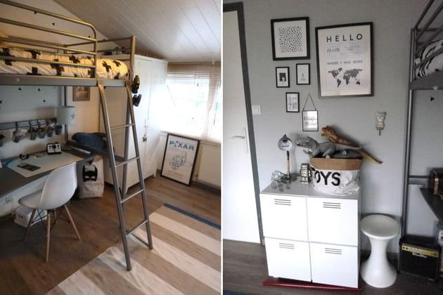 Après : une chambre pratique avec lit mezzanine