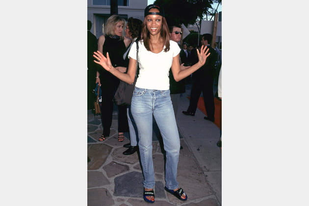 Tyra Banks le 1er juillet 1997
