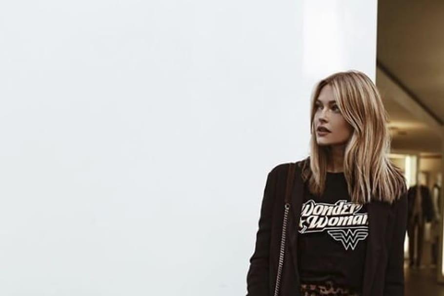 Le look blogueuse de la semaine: Caroline Receveur en léopard
