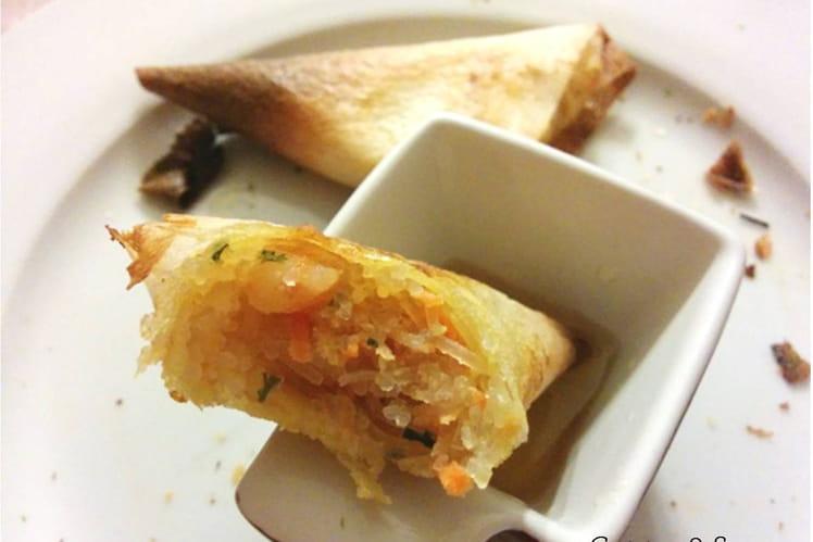 Samoussas aux crevettes