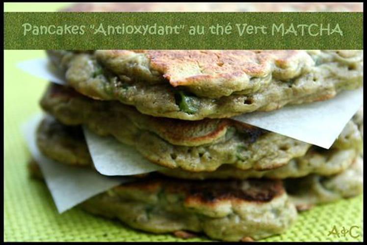Pancakes petits pois, thé vert, noix de cajou