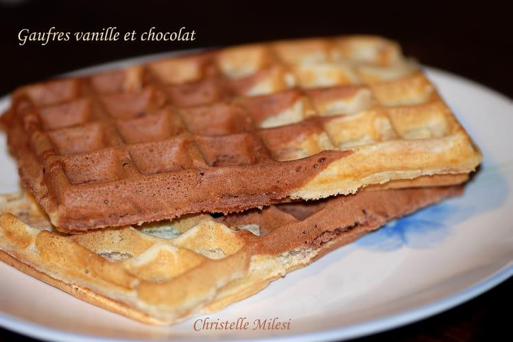 Gaufres vanille et chocolat
