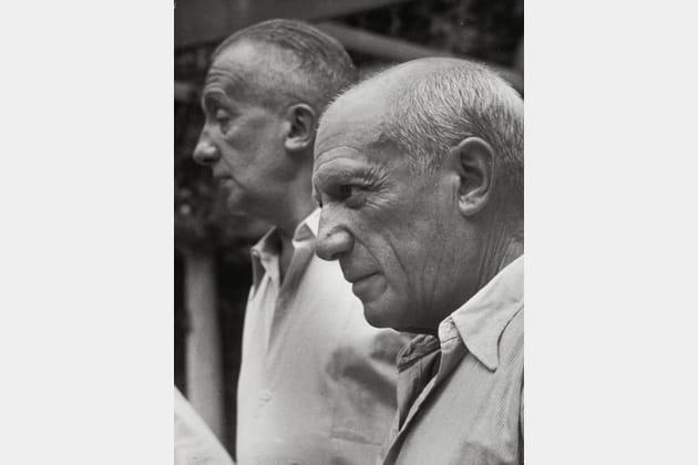 Pablo Picasso et Paul Eluard - Nice, 1950