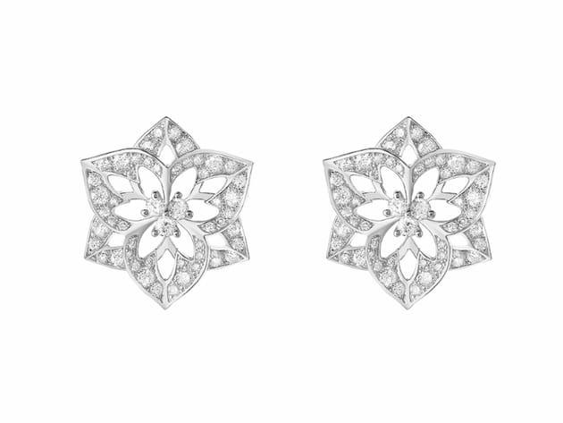 """Puces d'oreilles """"Pensée de diamants"""" de Boucheron"""
