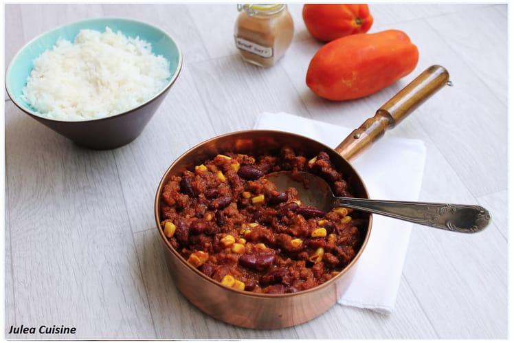 Chili végétarien : Chili sin Carne
