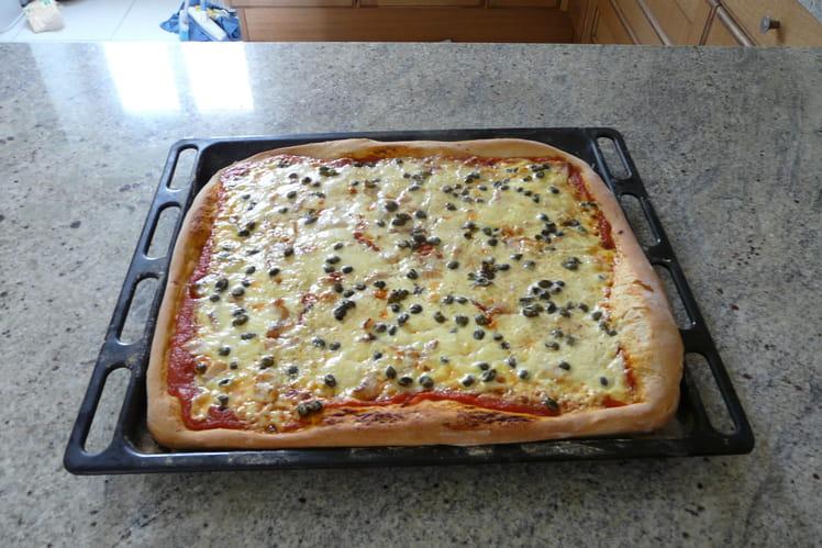 Pizza normande au saumon fumé