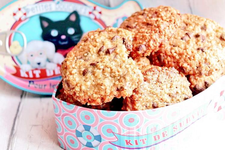 Cookies avoine,  sésame et pépites de chocolat
