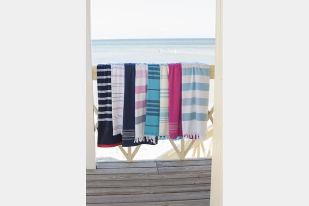 draps et serviettes de plage de la redoute int rieurs. Black Bedroom Furniture Sets. Home Design Ideas