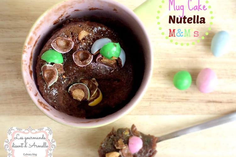Mug cake Nutella M&m's
