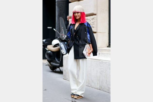 Street looks fashion week haute couture : flashy
