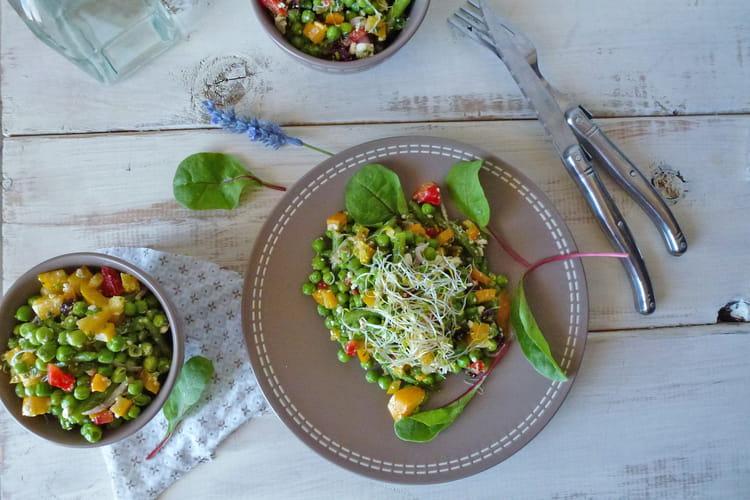 Salade de printemps aux petits pois et haricots verts