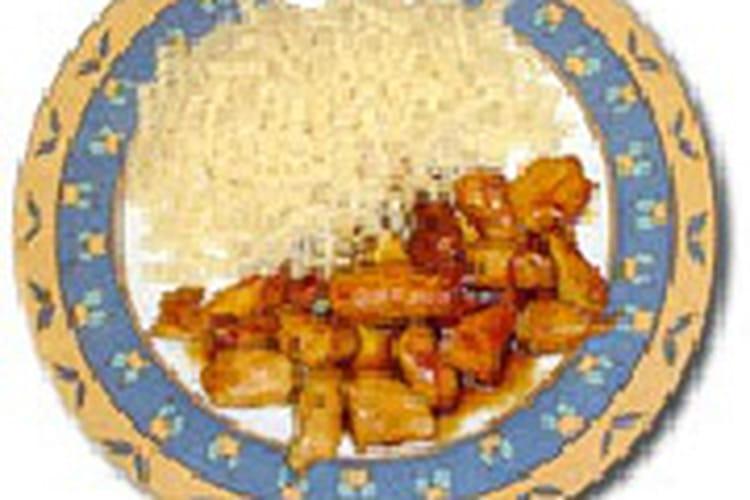 Poulet coco au curry, sauce soja et gingembre