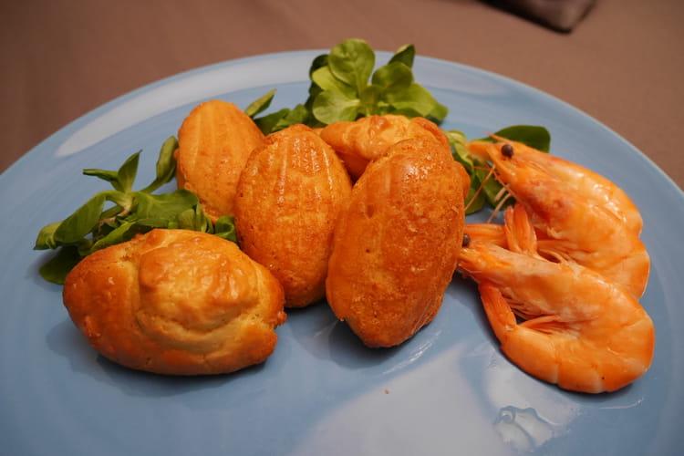 Madeleines aux crevettes et paprika