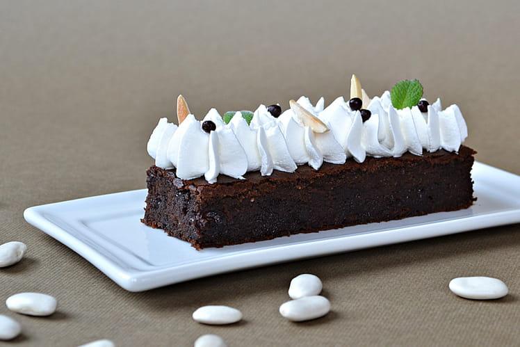 Brownies Haricots Tarbais/chocolat, crème soja/amande, sans lactose ni gluten