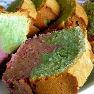 cake marbré pistache framboise
