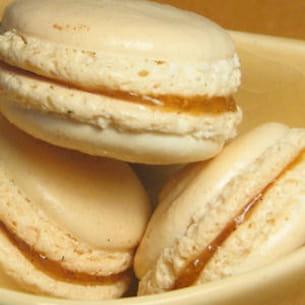 macarons poires-caramel au beurre salé