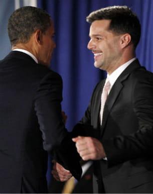 ricky martin le 14 mai 2012 et le président obama à l'occasion d'une levée de