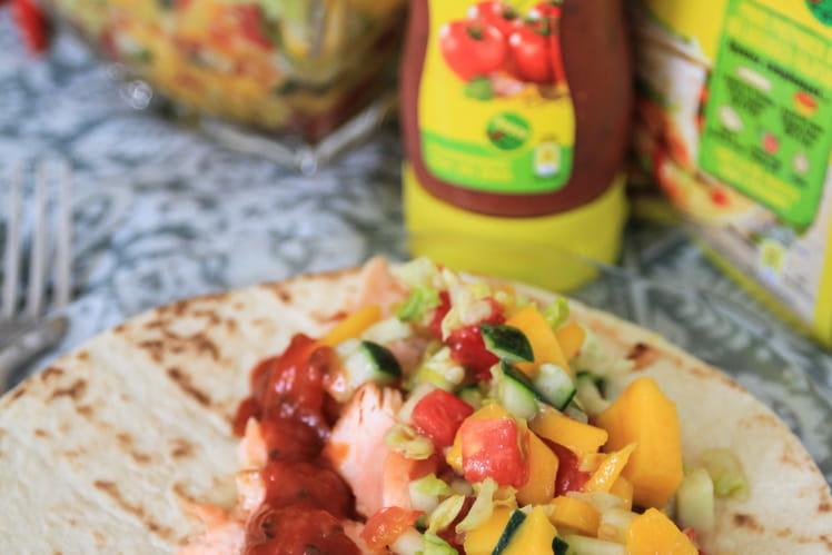 Tacos au saumon grillé aux épices