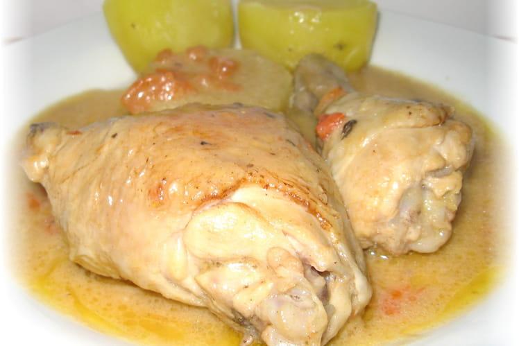 Cuisses de poulet à la tomme