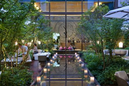 Le patio du Mandarin Oriental