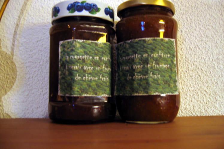 Confiture de courgettes, raisins et abricots secs