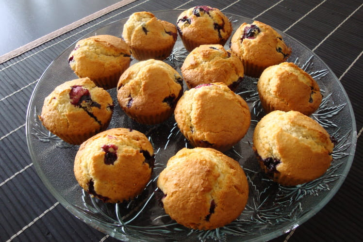 Muffins coco-cassis