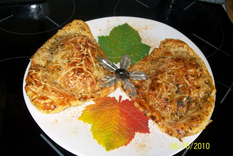 Chausson feuilleté aux courgettes et lardons