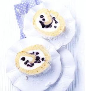 biscuit roulé aux myrtilles