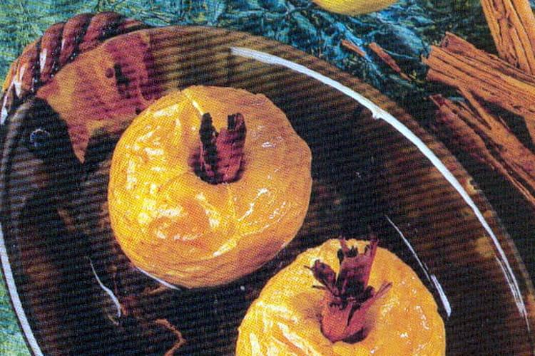 Pommes au four à la cannelle