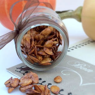 graines de courge au sucre et à la cannelle