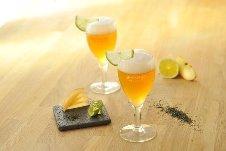 Cocktail Bière de Printemps, pomme et citron