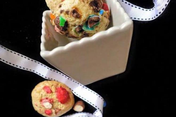 Cookies aux M&M's et pralines roses