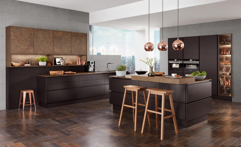 cuisine zia noir mat d 39 aviva. Black Bedroom Furniture Sets. Home Design Ideas