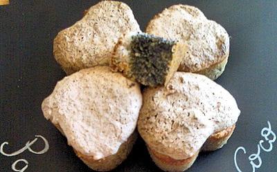 cakes au pavot et citron meringués noix de coco